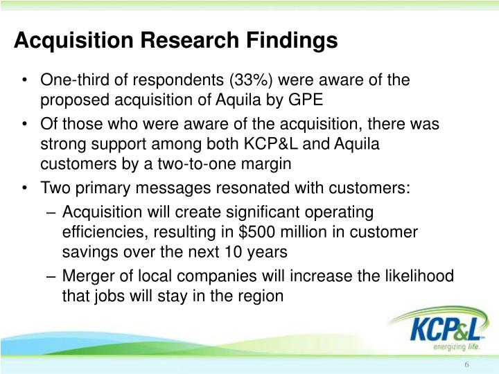 Acquisition Research Findings
