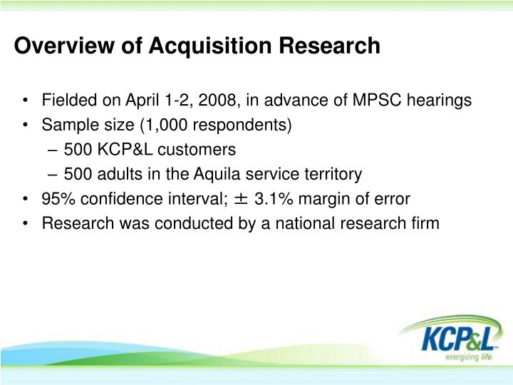 Overview of Acquisition Research