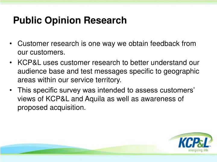 Public opinion research