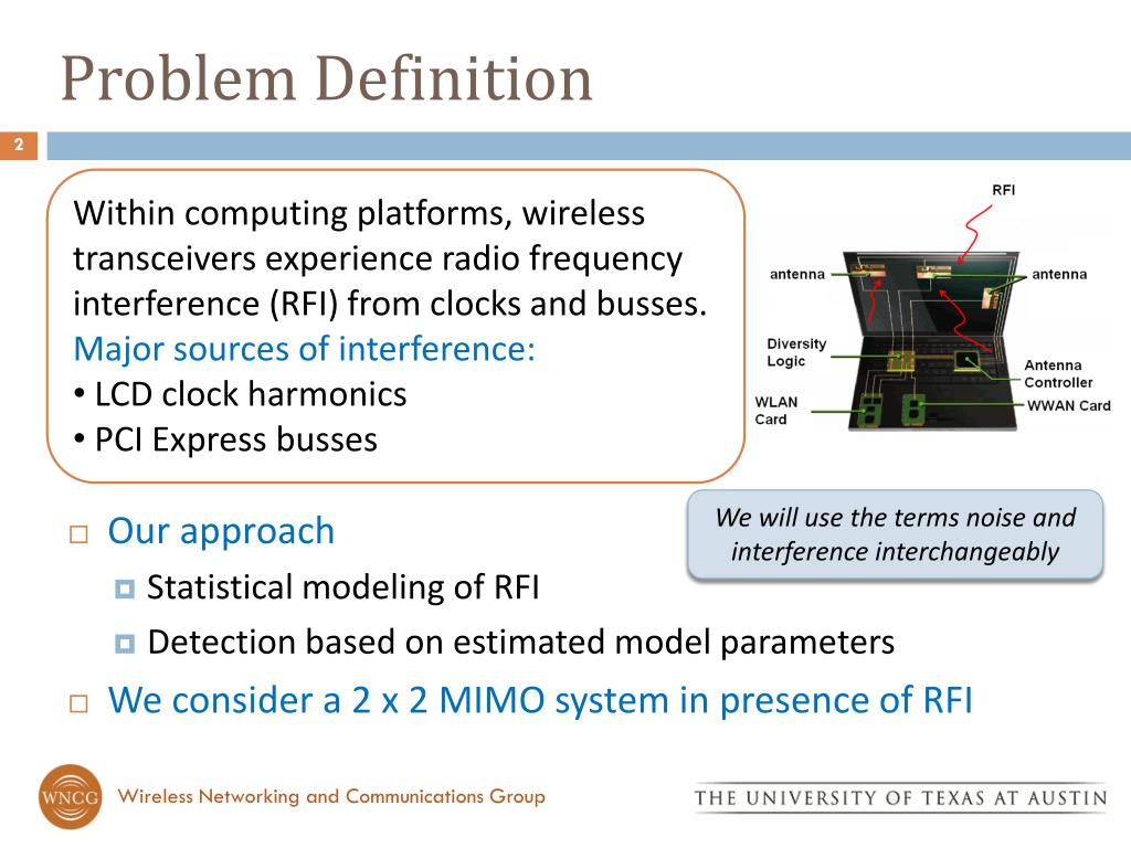 PPT - MIMO Receiver Design in the Presence of Radio Frequency