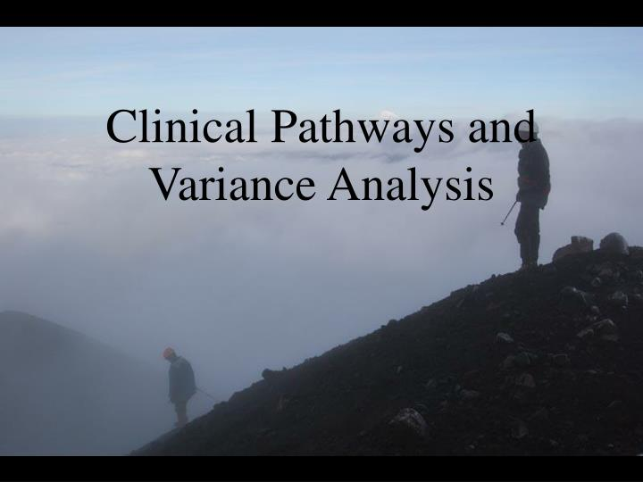 clinical pathways and variance analysis n.