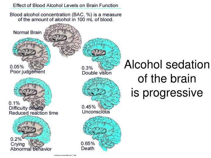 Alcohol sedation
