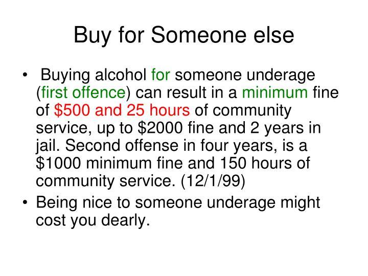 Buy for Someone else