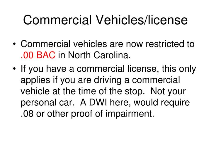 Commercial Vehicles/license