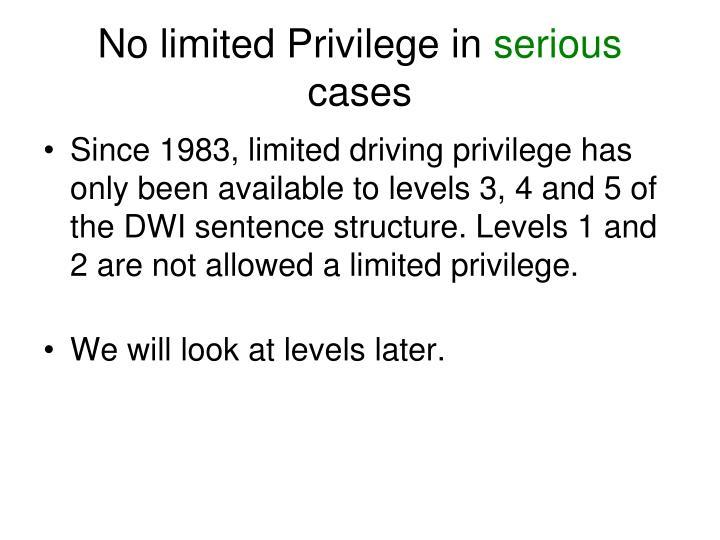 No limited Privilege in