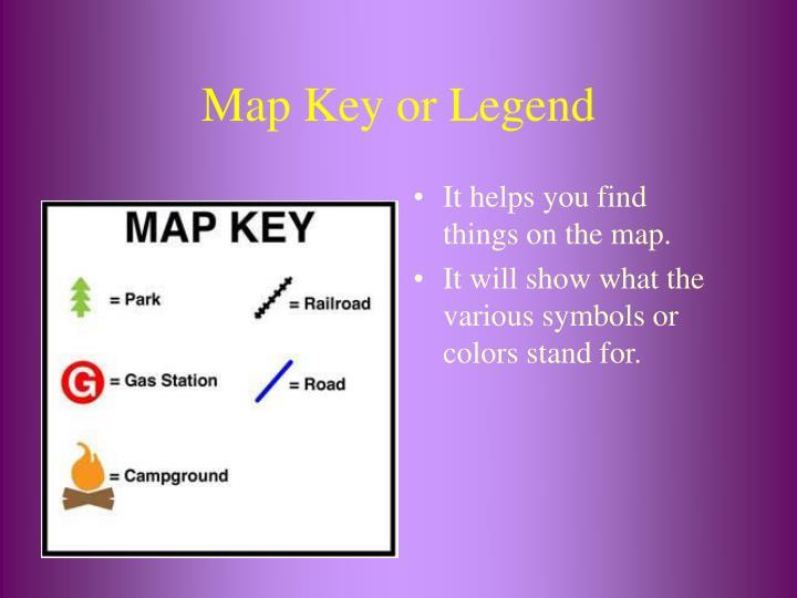 Map Key or Legend
