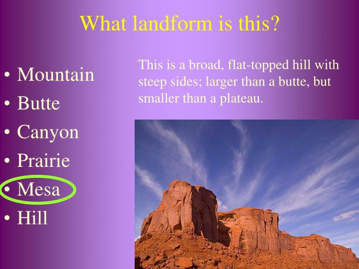 What landform is this?