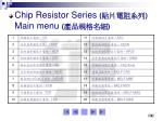 chip resistor series main menu