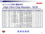 high ohm chip resistor hcr