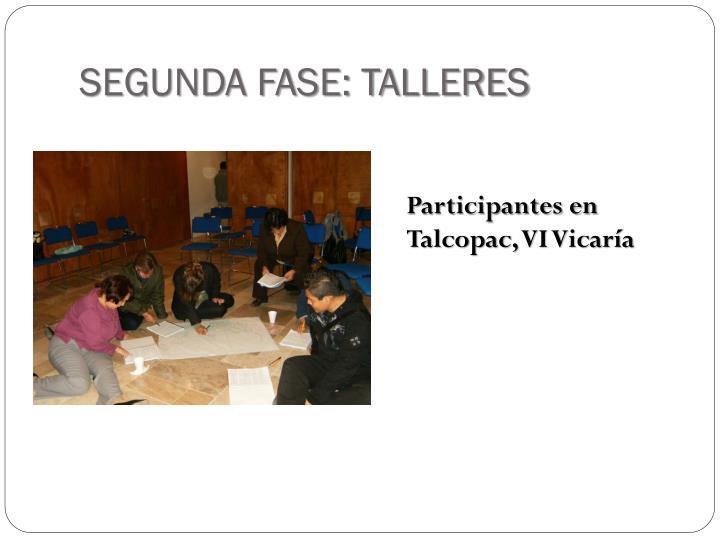 SEGUNDA FASE: TALLERES