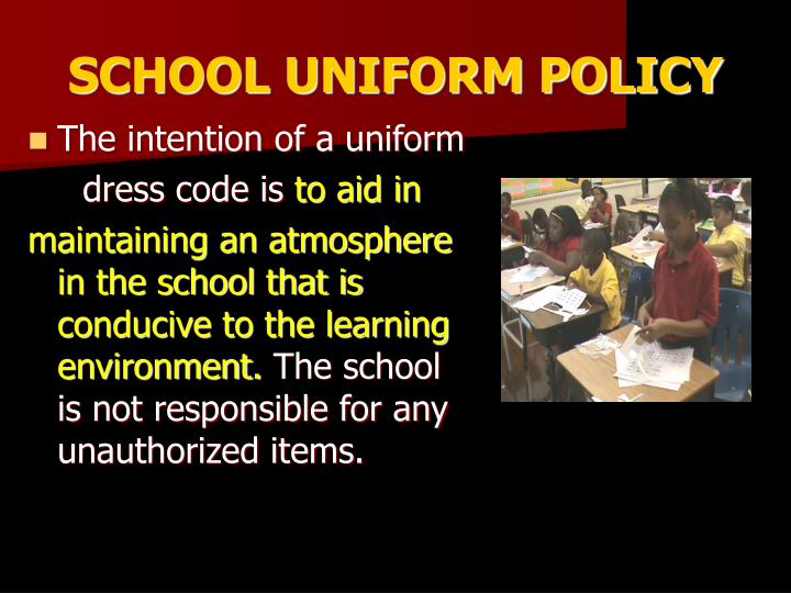 SCHOOL UNIFORM POLICY