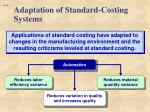 adaptation of standard costing systems1
