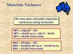 materials variances3
