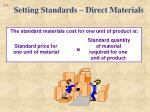 setting standards direct materials1