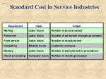 standard cost in service industries1