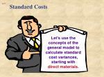 standard costs