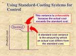 using standard costing systems for control2