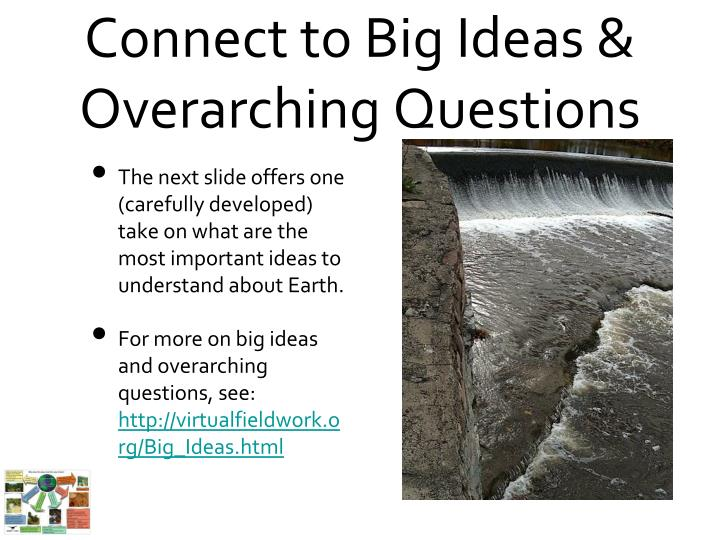 Connect to big ideas overarching questions