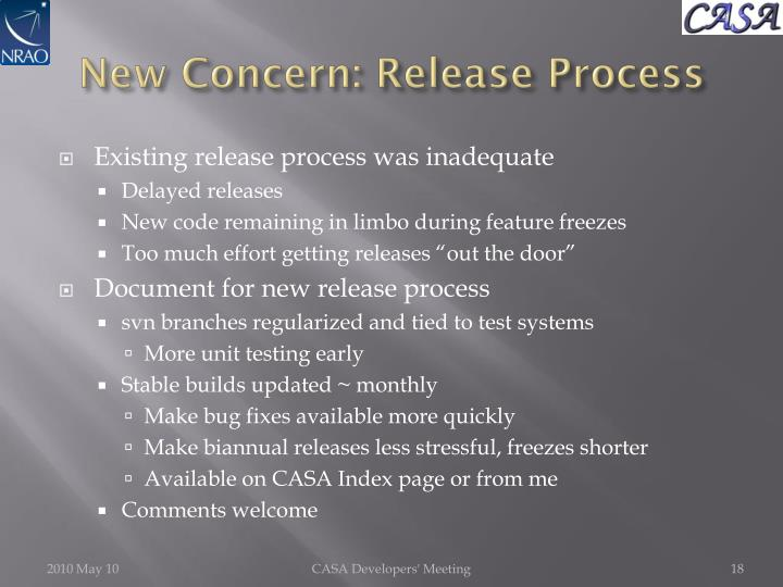 New Concern: Release Process