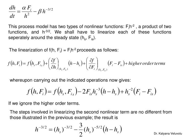 This process model has two types of nonlinear functions: F