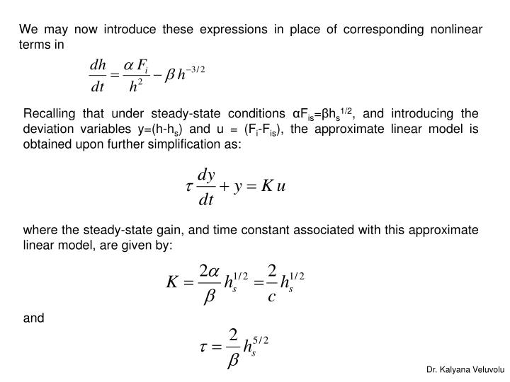 We may now introduce these expressions in place of corresponding nonlinear terms in