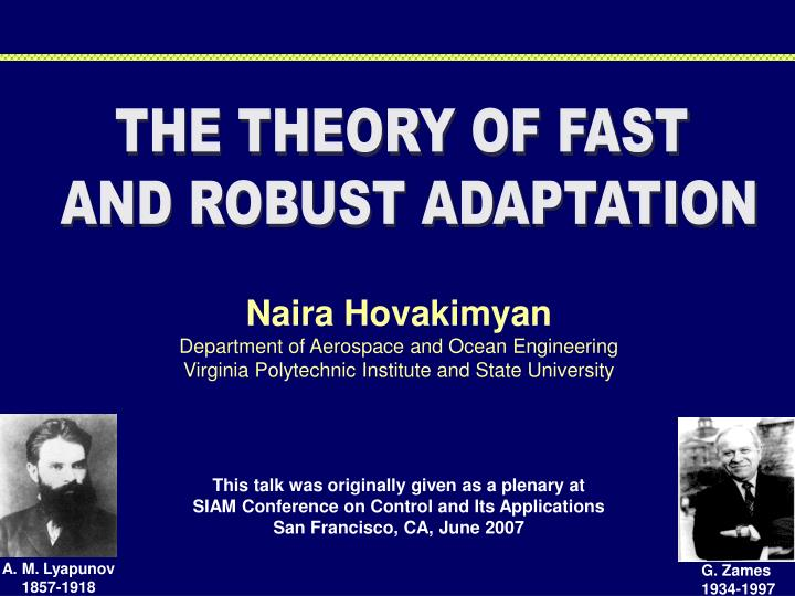 THE THEORY OF FAST