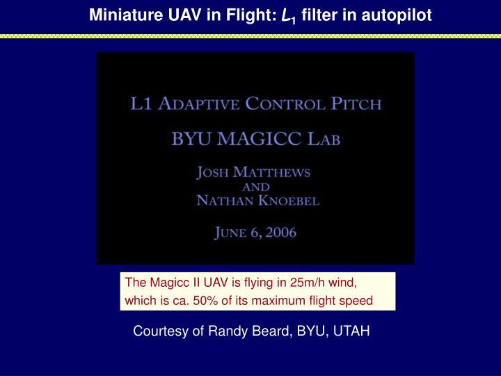Miniature UAV in Flight: