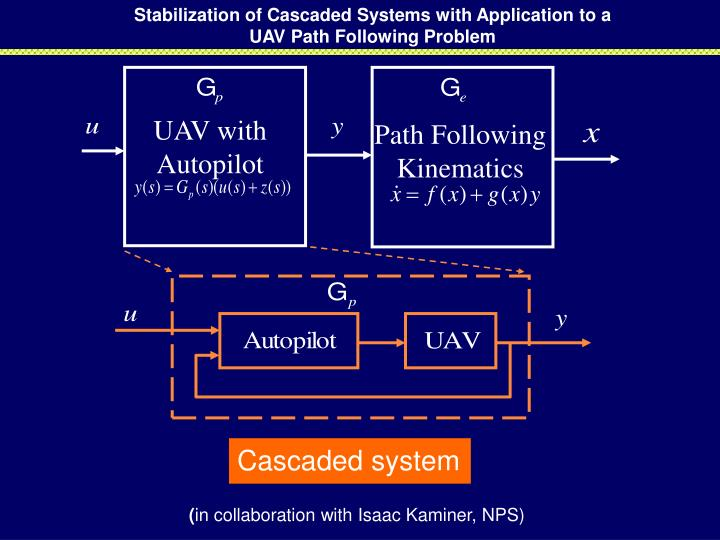 Stabilization of Cascaded Systems with Application to a UAV Path Following Problem