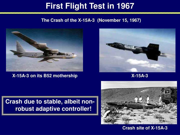First Flight Test in 1967