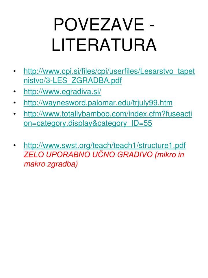 POVEZAVE - LITERATURA