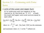 section 5 1 estimating with finite sums14