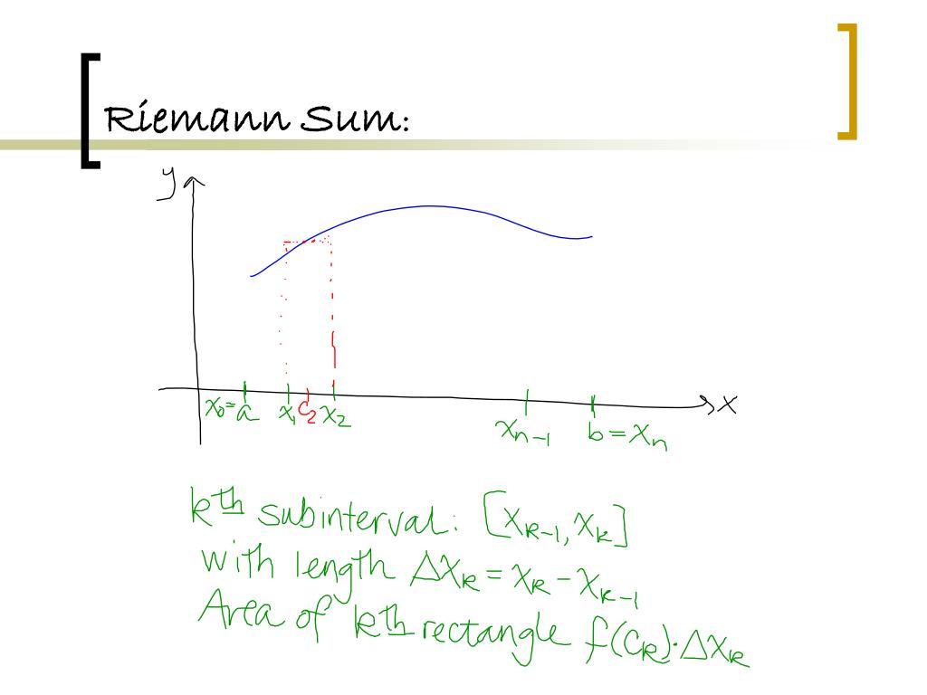 Definite integral as the limit of a riemann sum