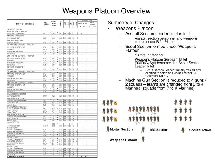 Weapons Platoon Overview
