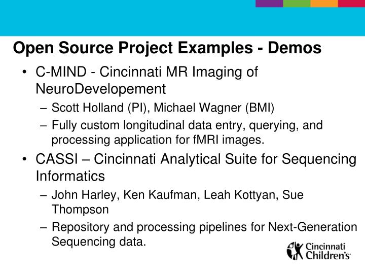 Open Source Project Examples - Demos