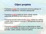 ciljevi projekta