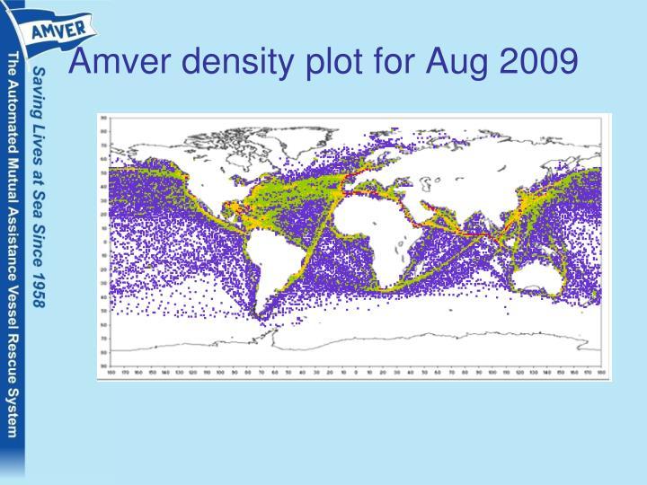 Amver density plot for Aug 2009