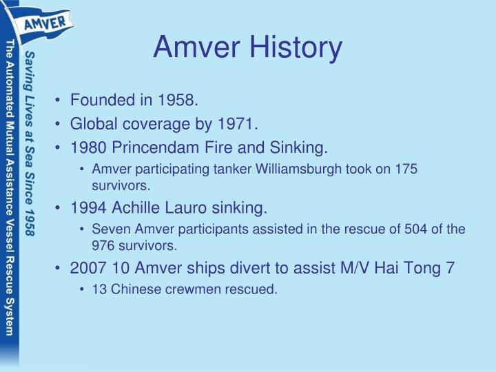 Amver history