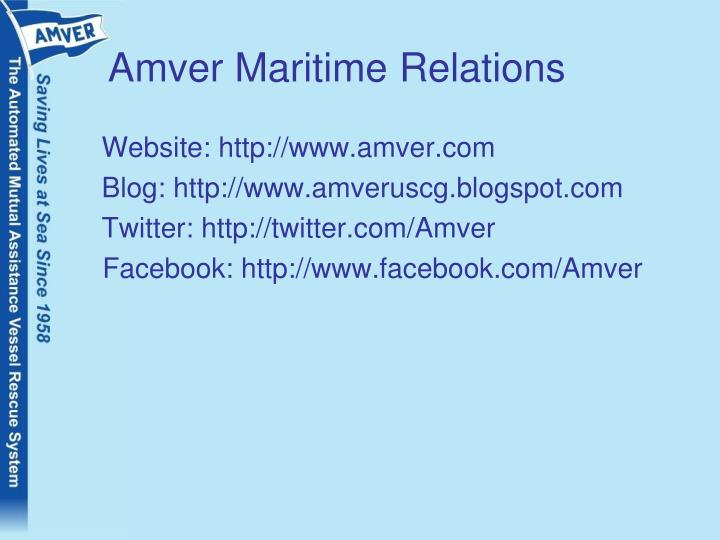 Amver Maritime Relations