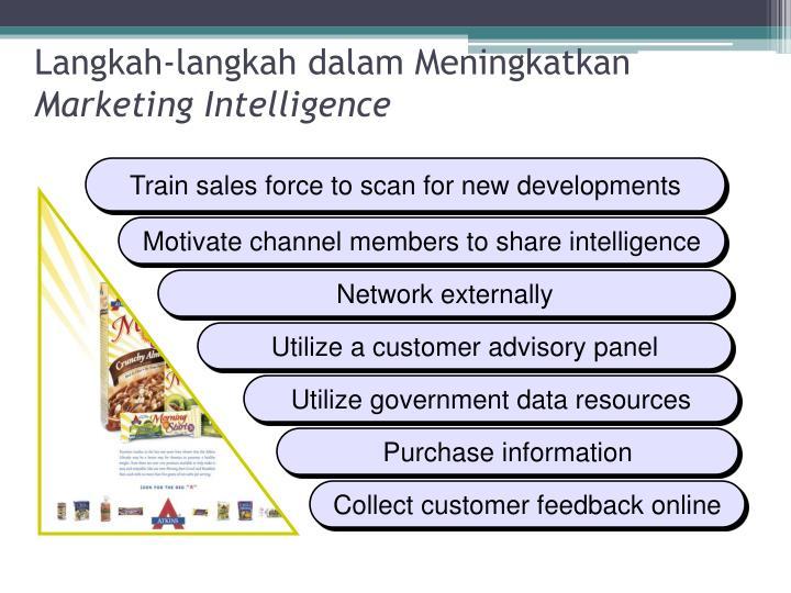 Langkah langkah dalam meningkatkan marketing intelligence