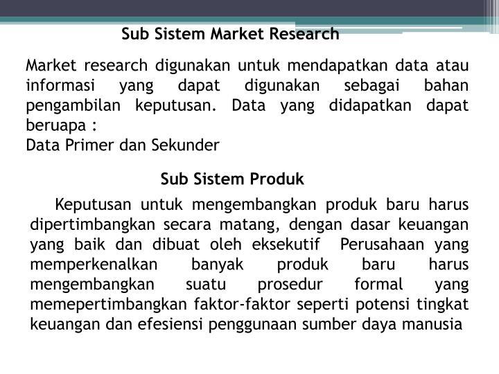 Sub Sistem Market Research