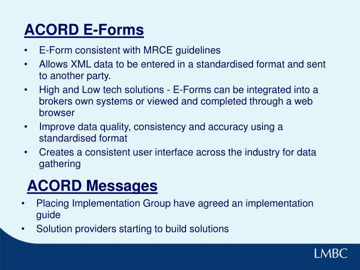 ACORD E-Forms
