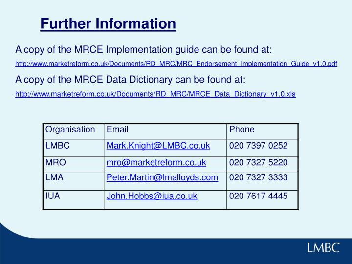 A copy of the MRCE Implementation guide can be found at: