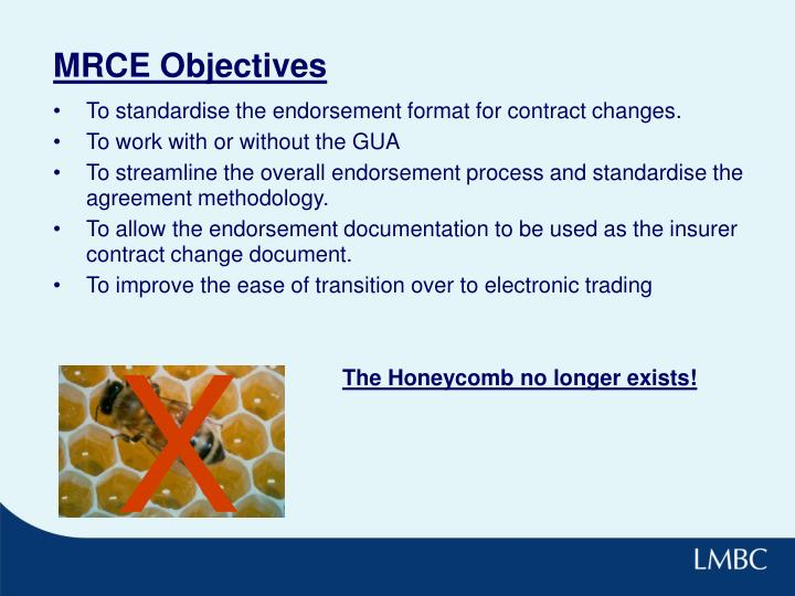 MRCE Objectives