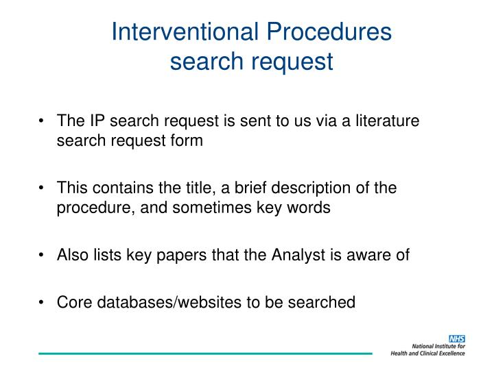 Interventional Procedures