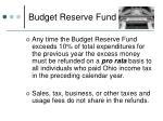 budget reserve fund