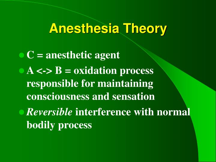Anesthesia Theory