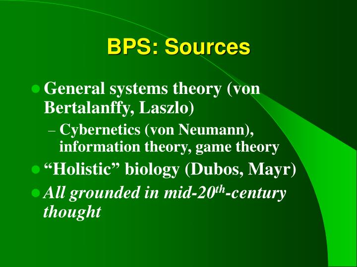 BPS: Sources