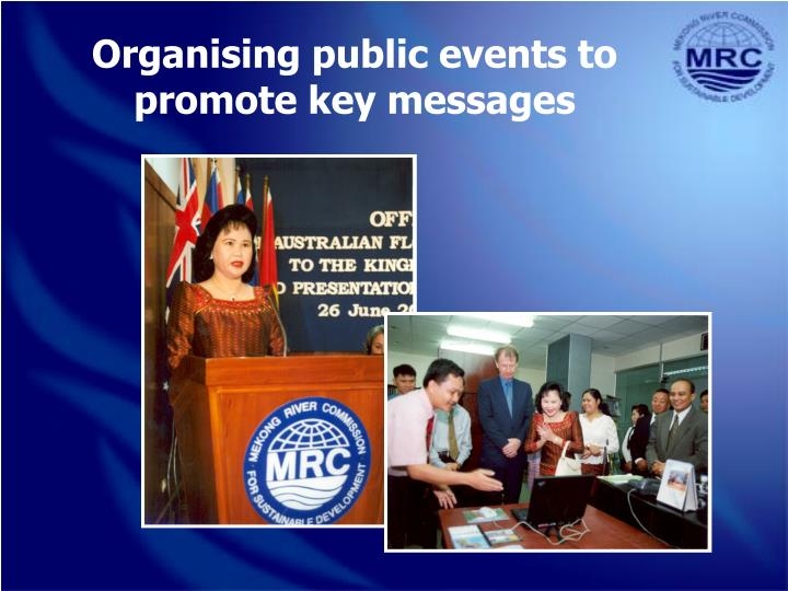Organising public events to