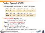 part of speech pos