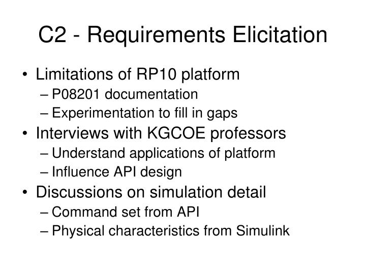 C2 - Requirements Elicitation